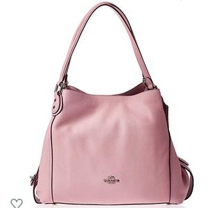 Coach Pink Edie Shoulder Bag